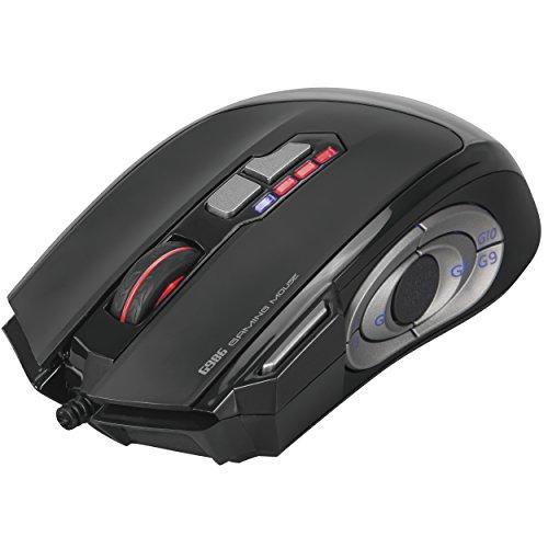 Marvo G986 Gaming Maus 12-Tasten 1000Hz | 6 DPI Einstellungen 1000-8000 DPI | programmierbar inkl. Software | optischer Pixart 3325 Sensor | USB
