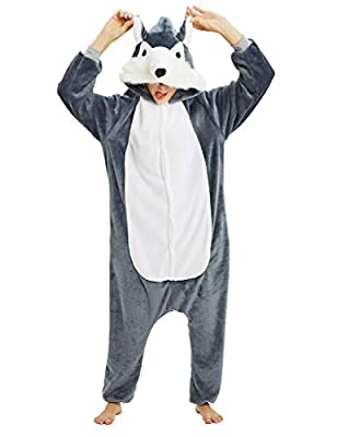 Pijama Animales Disfraz Cosplay Carnaval Halloween Costumes Unisex Mono Pijama entero Unicornio Panda Pingüino Lupo XL