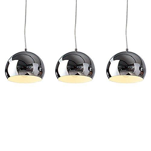 Designer Hängeleuchte CHROMAGON Chrom Kugelleuchte Lampe Leuchte Hängelampe
