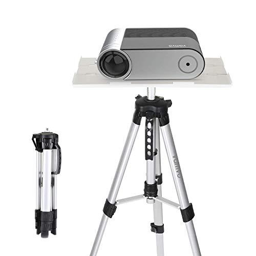 Beamer Ständer, Vamvo Beamer Stativ Projektorständer, Tragbarer Verstellbarer Laptop-ständer, Bodenständerhalterung Verstellbare Höhe von 42 cm bis 115 cm mit Klappplatte