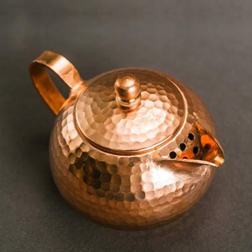 Tea Pot, Small Tea Kettle, Copper Vintage Heat Resistant Tea Maker for Loose Leaf Tea, for Party Office Home, 200ml
