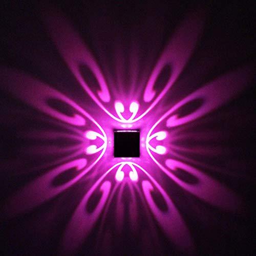 Modern 1W 3W Butterfly LED Lámpara de pared AC 85-265V Montado en la pared Aplique de aluminio Inicio decoración de interiores Iluminación KTV Party Bar Light