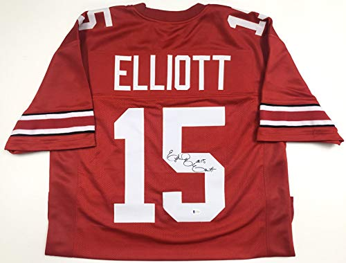 Ezekiel Elliott Ohio State Buckeyes Autographed Jersey - Beckett Authentic