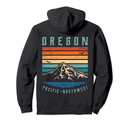 Oregon T-Shirt Retro Montañas | Portland Mt. Hood Vintage Sudadera con Capucha