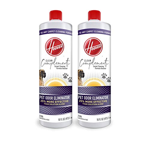 Hoover Complements Pet Odor Eliminator Carpet Cleaning Booster Formula for Machines, 16 oz Solution, Pack of 2, AH33030, White