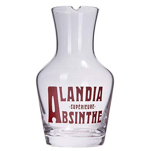 ALANDIA Absinth Glas Karaffe   Mundgeblasenes Glas   Breite Öffnung für Eiswürfel   Kontrolliertes Ausgießen   Klassisches 19. Jh. Design