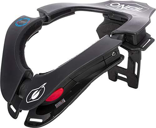 O'NEAL | Motocross-Protektor | MX MTB Mountainbike Enduro Motorrad | 2 Zonen zum Einstellen, 2 Vorderpolster, Verschlussmechanismus | Tron Neckbrace Solid | Erwachsene | Schwarz | One Size