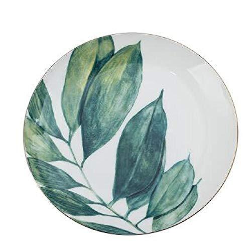 Teller 8 Zoll Runde Tropische Monster Keramikplatte Gericht Für Abendessen Und Dessert 8 Zoll D.