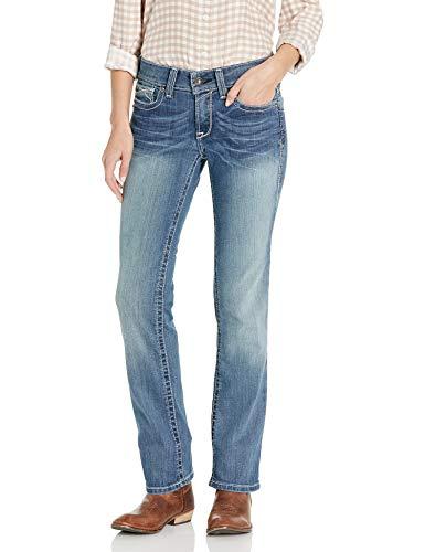 Ariat Women's R.E.A.L Mid Rise Straight LegJean, Rainstorm, 30 Regular