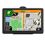 GPS Navigation 7 Inch for Car Truck 2021 Americas Map Free Lifetime Map Update Includes Postcodes, POI Speed Cam Alerts Lane Assist Guidance