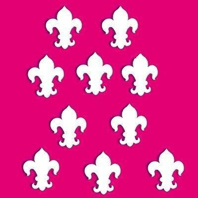 ServeWell décoratifs Mini Fleur de lys Mur miroirs – Bundle de Dix