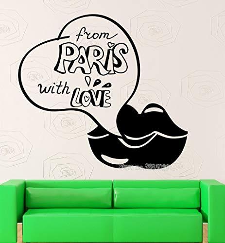 Tianpengyuanshuai kunst muursticker uit Parijs vinyl applicatie & Love Quotes muursticker slaapkamer meisjes wooncultuur waterdicht behang poster