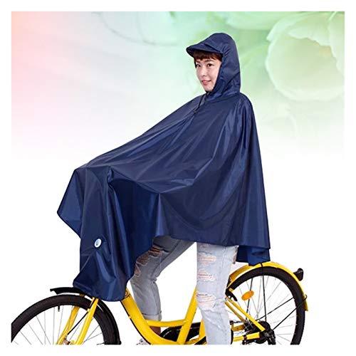 Poncho Para Bicicleta Hombres bicicleta impermeable espesano impermeable con capucha impermeable impermeable impermeable a prueba de viento cubierta de lluvia movilidad cubierta de la scooter (azul ma