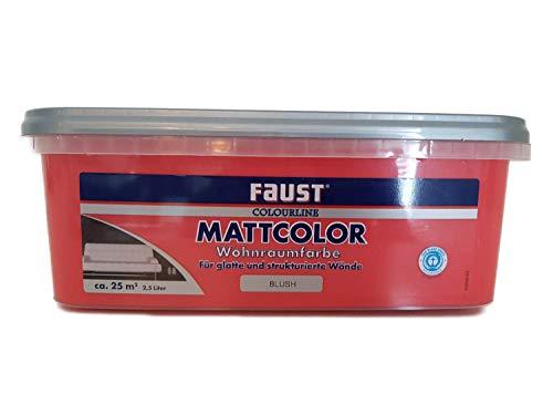 Faust Colourline Mattcolor Wohnraumfarbe blush Innen 2,5 Liter