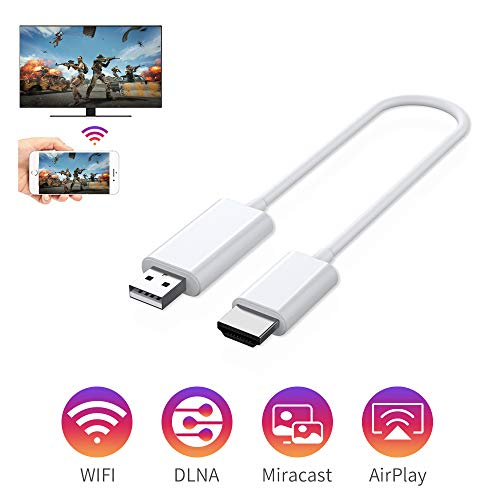 Wireless Display Adapter, 2.4G/5G WiFi Wireless Full HD 1080P HDMI Display Adapter, Support DLNA Screen Mirror for iOS/Android/Windows/Laptop/Projector/TV/Video Display Dongle