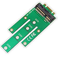 JMT 22x30mm 22x42mm 22x60mm 22x80 SSD用NGFF M.2 BキーSSDからMSATA MINI PCIEアダプターコンバーターカード