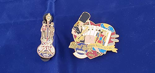 Hard Rock Cafe Casino London Valentines Day and New Years 2 Pin Set sm