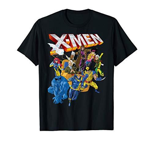 Marvel X-Men Vintage Group Shot Logo T-Shirt