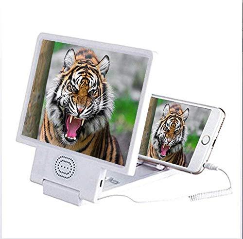 FTYYSWL 8.5 pulgadas pantalla 3D lupa altavoz smartphone lupa triple para cada...