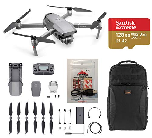 DJI Mavic 2 Pro Drone - Bundle with Lowepro DroneGuard BP 200 Backpack, 128GB MicroSDXC Card, Firehouse Technology ARC White Strobe