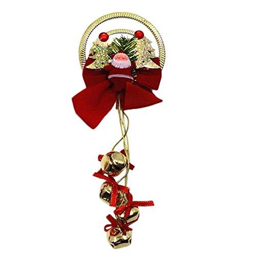 Demarkt 1 Pcs Cloches de Noël Plastique Creux Couronne en Plastique Carillons de vent pour Décoration Suspendue Décorations D'arbres de Noël Fête Mariage Couleur Aléatoire