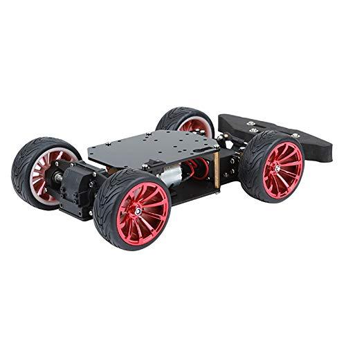 Kit de chasis de coche con robot de dirección inteligente 4WD para Arduino,con diferencial de rueda trasera de rodamiento de servo de metal y motor de alto par, plataforma de robot DIY Robot c