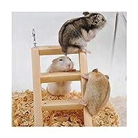 ペットのおもちゃ ハムスターおもちゃ木製はしごクライミング ランダムカラーデリバリー 2cm * * サイズ:15