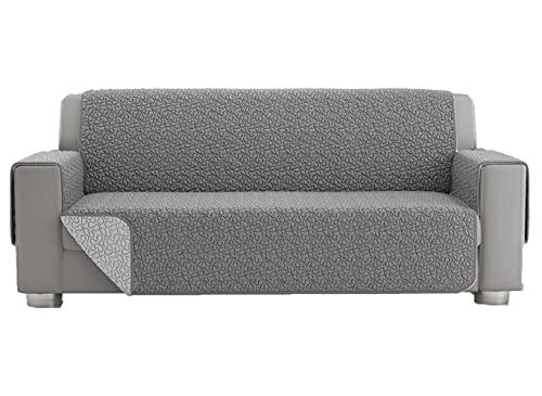 Copridivano 2 posti, telo copridivano 3 posti, copri divano universale trapuntato reversibile, fodera protettiva per divano double face (3 posti, Grigio)