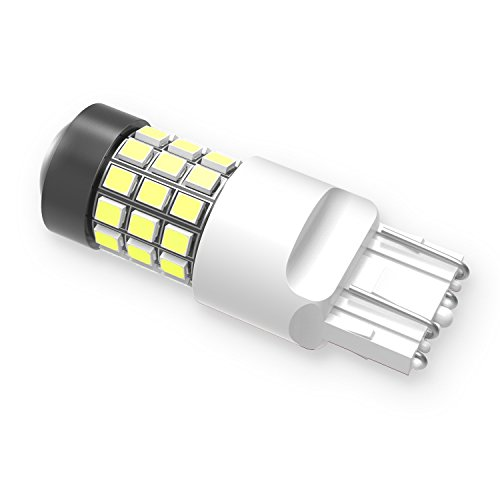 Alla Lighting Super Bright T20 7440 7443 LED Back Up Light Bulbs W21W 7441 7440 7443 LED Bulbs High Power 2835-SMD 7440 7443 6000K Xenon White LED Bulbs for Cars Backup Reverse Lights Replacement