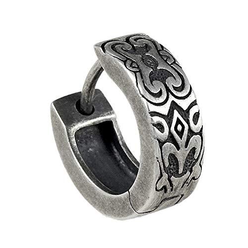 Cai Herren Creole 925/- Sterling Silber 1,4cm Oxidiert ohne Stein Silbergrau 132210499