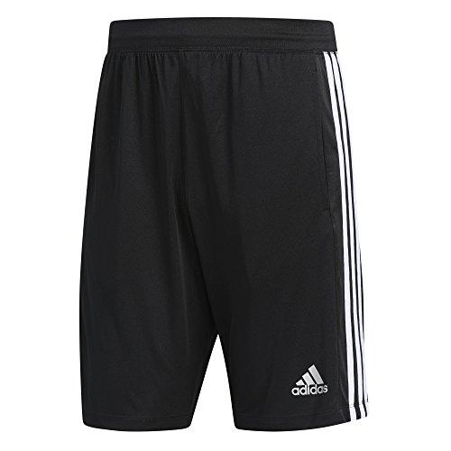 adidas Men's Designed-2-Move 3-Stripe Shorts, Black/White, Medium