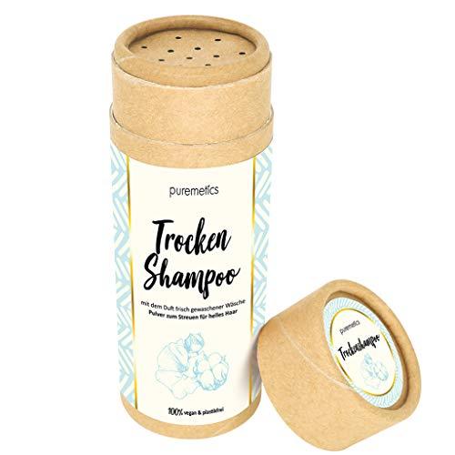 puremetics Zero Waste Trocken Shampoo | 100% natürlich, vegan & plastikfrei | Trockenshampoo Pulver...