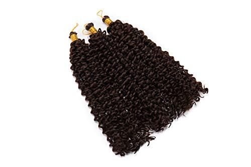 Tissage Tresse Bresilien Bouclé WATER WAVE Braids Crochet Extension Cheveux Synthétique 14 Pouce 9 Bundles - 4