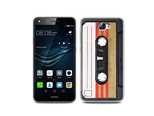 etuo Handyhülle für Huawei Y6 II Compact - Hülle, Silikon, Gummi Schutzhülle - Kassete