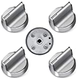 PrimeswiftLong Handle W10594481 Burner Control Knob GasStoveKnobsCompatible with Whirlpool WPW10594481 PS11756643 AP6023301 5 Pack