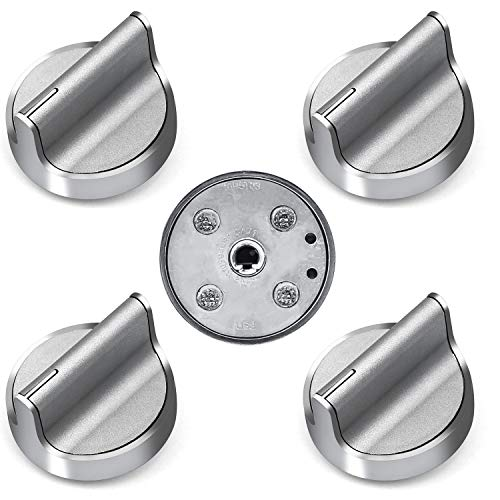 PrimeswiftLong Handle W10594481 Burner Control Knob GasStoveKnobsReplacements Whirlpool WPW10594481 PS11756643 AP6023301 , 5 Pack