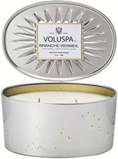 Voluspa Branche Vermeil 2 Wick Oval Tin Candle, 12 Ounces