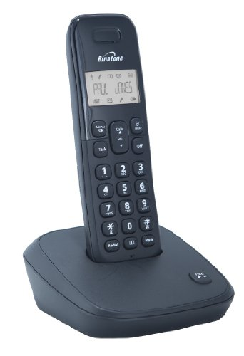 Binatone Veva Dect Cordless Phone - Black, Single