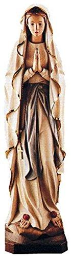 Holzfigur Lourdes Madonna coloriert - Schnitzereien Dolfi