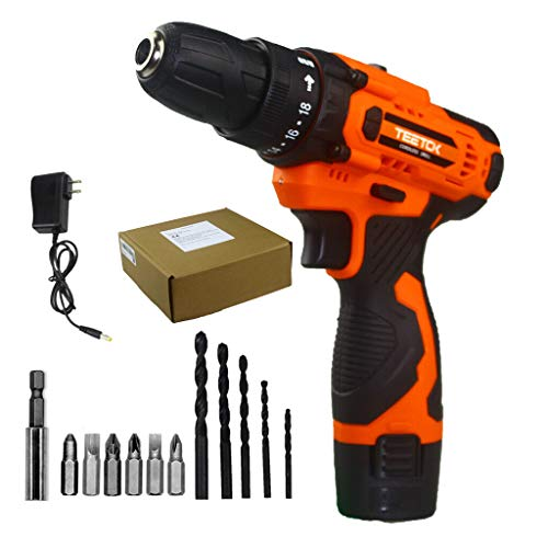 Cordless Drill Electric Screwdriver Rechargeable Small Hand Drill Set 2 Speed 12V