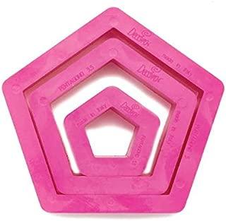 DECORA Set 3 Pentagon Cookie Cutters, Pink, 10 x 10 x 3 cm