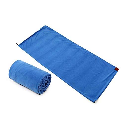 Slaapzak winter fleece slaapzak, draagbare slaapzak fleece liner licht tentbed voor outdoor camping wandelen backpacking Blau `