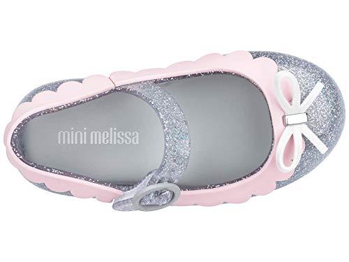 mini melissa Girl's Sweet Love II BB (Toddler/Little Kid) Silver Glitter 10 Toddler M