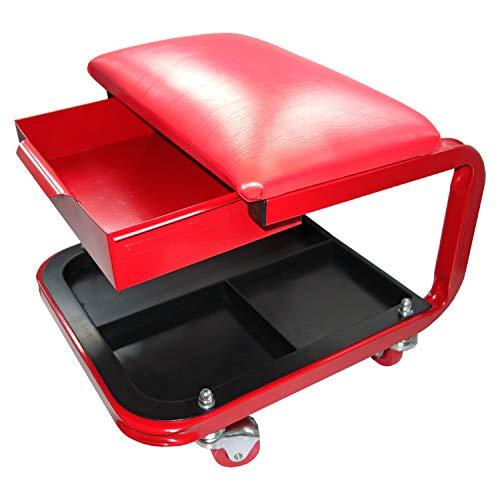 seggiolino officina Lobinger® - Sedia da Officina a rotelle con cassetto e Sgabello