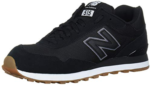 New Balance Men's 515 V1 Sneaker, Black/White, 7 XW US