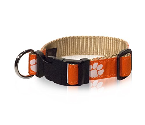 """ZEP-PRO Clemson Tigers Dog Collar - NCAA - 3 Sizes - Made in The U.S.A. (Medium (14-20""""))"""