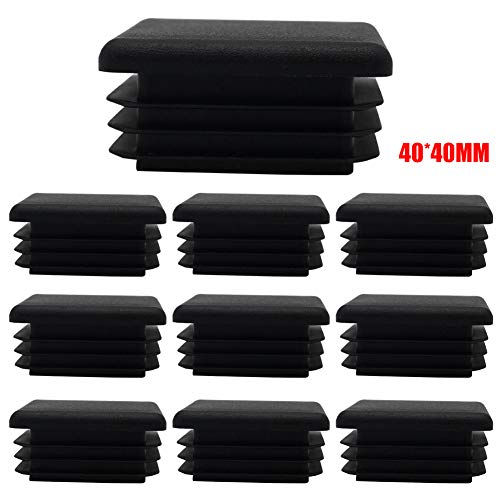 Metyere Square Chair Leg Tips Caps 10pcs Plastic Plug Tubing Post End Cap Chair Anti Slip Furniture Table Feet Cover Floor Protector Reduce Noise Prevent Scratches