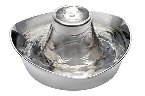 PetSafe Drinkwell - Fuente de Agua para Animales 360° de Acero Inoxidable - Capacidad 3.8L, 5 chorros de agua en cascada ajustables, Filtro de Carbono para Agua de Calidad