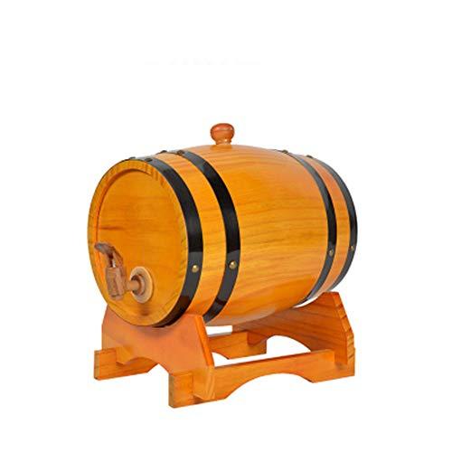 HJJT Eichenfass, 3 L/20L/30L L Holzfass weinfass Whiskyfass Schnapsfass Weinspender zur Aufbewahrung von Whiskey Bourbon Tequila, Anzug für Zuhause, Bar, Party und Bankett (30L)