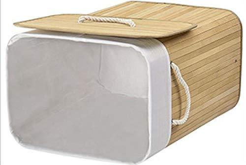 Natural Bamboo Laundry Basket Square Large Capacity 52*32*63Cm Storage Basket Environmental Protection Clothes Storage Basket